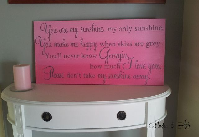 Personalised handpainted wooden sign