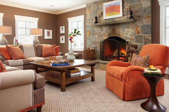 Коричневый цвет в интерьере в сочитании с другими - Фото - Цвет в интерьере