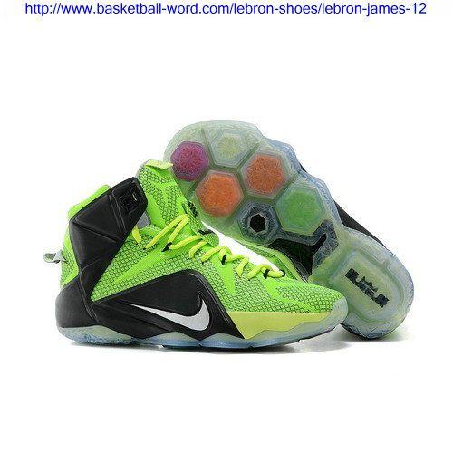 2015 Newest Nike LeBron 12 Neon Green/Black-Silver Cheap Sale Online,  Price: - Air Jordan Shoes, New Jordan Shoes, Michael Jordan Shoes