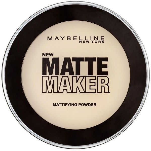 Maybelline New York Matte Maker Mattifying Powder ($8.33) ❤ liked on Polyvore featuring beauty products, makeup, face makeup, face powder, maybelline, maybelline face powder and maybelline face makeup