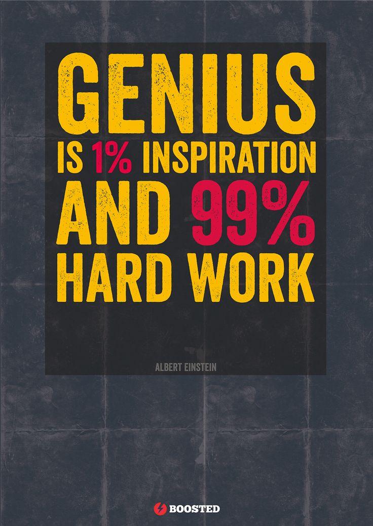 Motivační plakát Genialita (Anglicky)