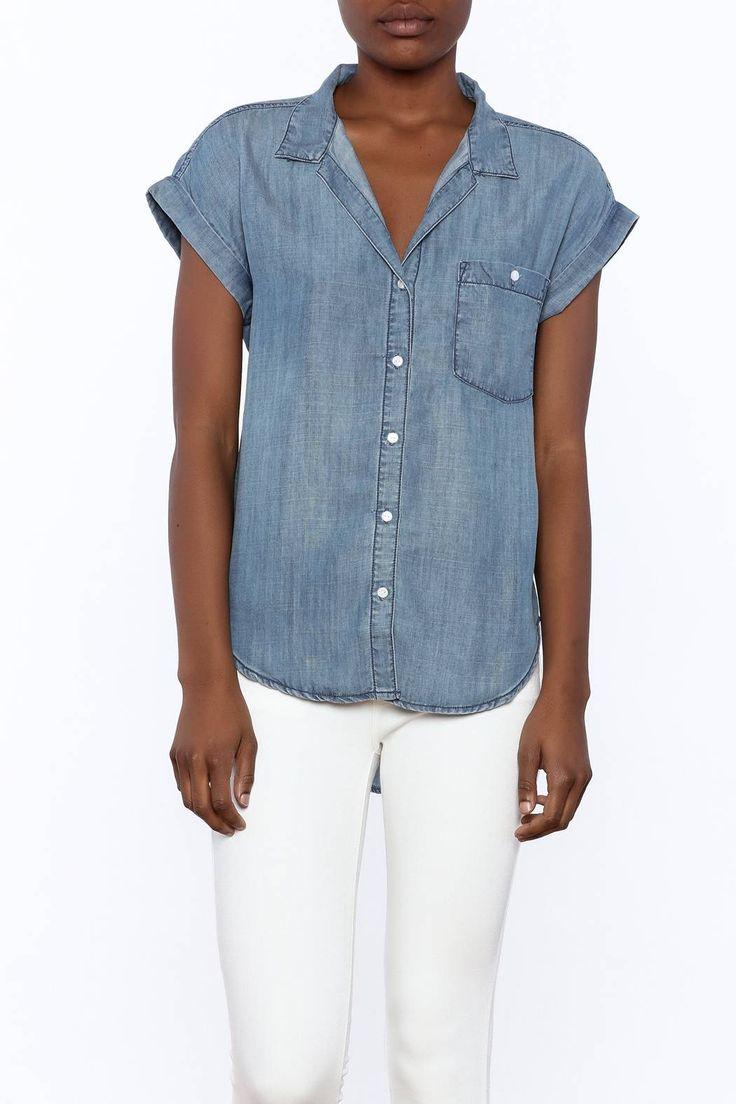 Short sleeve denim shirt with a slightly longer back hem. ShortSleeve Denim Shirt by Sneak Peek. Clothing - Tops - Short Sleeve Clothing - Tops - Button Down Miami, Florida