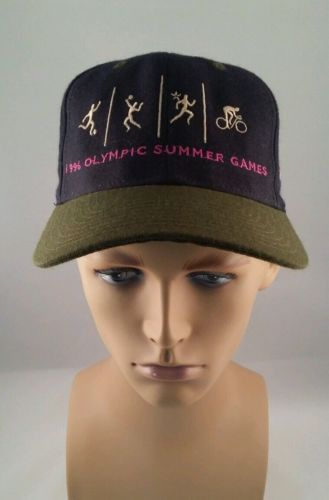 Olympic Summer Games Atlanta Blue Green Adjustable Cap champion 1996