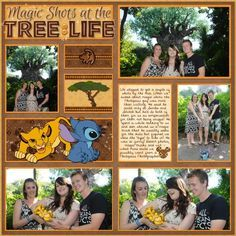 Disney Scrapbook Page - Magic Shots at the Tree of Life by Melissa of Melidy Designs