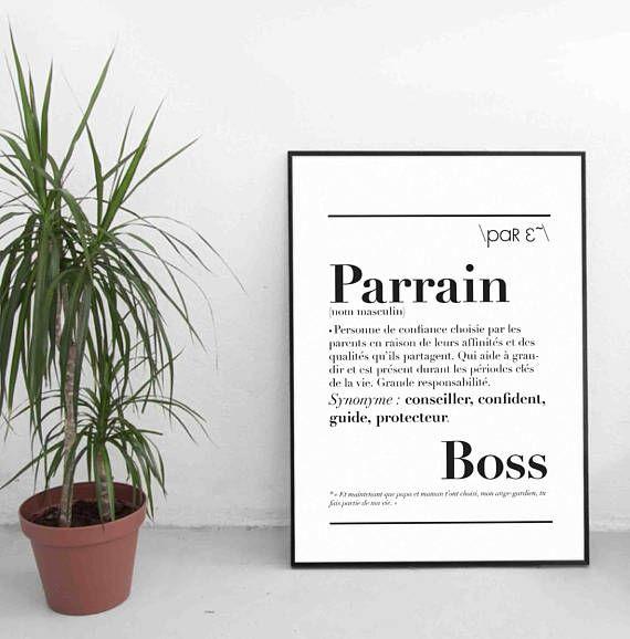 """Affiche définition """"Parrain"""""""