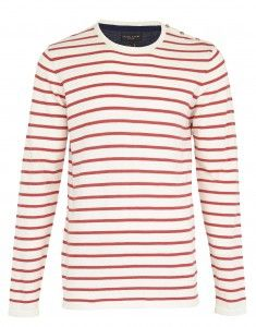 striped fitted long sleeve