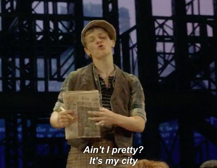 """Ain't i pretty?"" Ben Cook  Newsies the Musical"