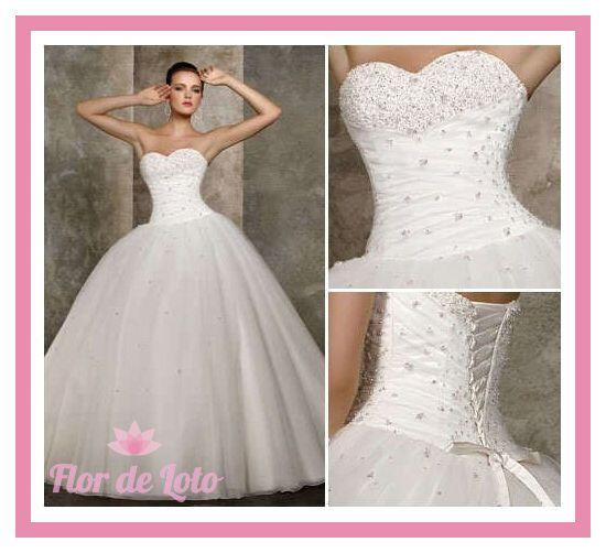 Vestidos de novia linea a con corset