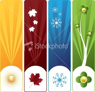 Four seasons banners Royalty Free Stock Vector Art Illustration    istockphoto.com