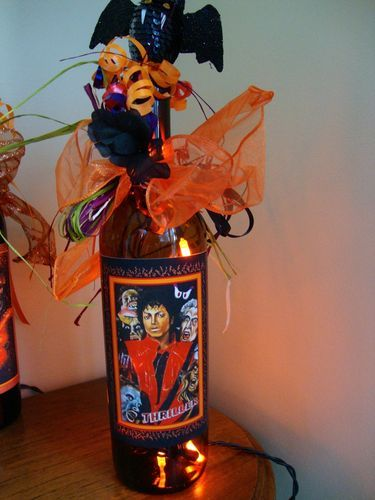 michael jackson thriller wine bottle light lighted vombie bottle - Halloween Lights Thriller