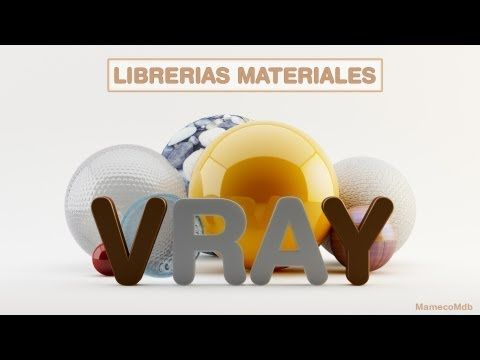 C4D VRAY CREAR LIBRERÍAS DE MATERIALES - YouTube