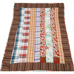Decorative Baby Quilt Crib Size Multicolored Cotton Home Décor Handmade Gudri