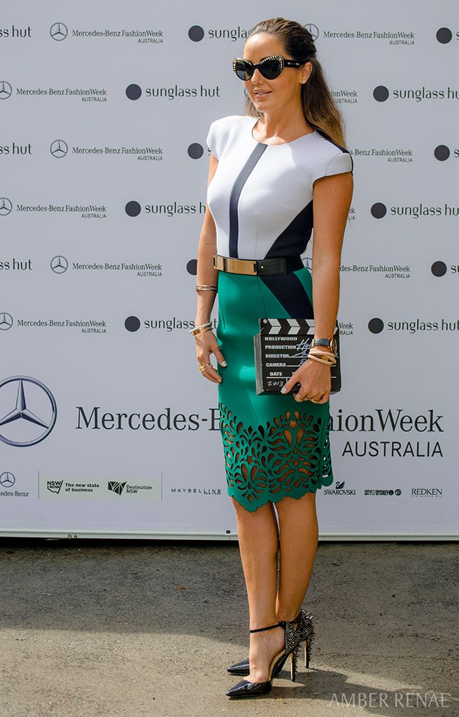 This green neoprene dream was my day 1 ensemble, courtesy of Melbourne  designer OSCAR CALVO, and since I love anything that reminds me of the  beach, ...