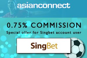 0.75% commission for Singbet account. Why not? Open an account now and take advantage of our special offer! http://ow.ly/10jri7