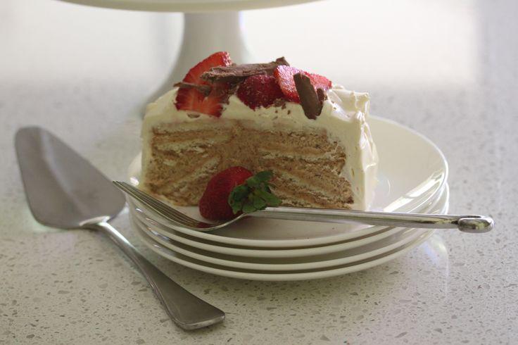 Biscotten Torte with Strawberries #thermomix #recipe