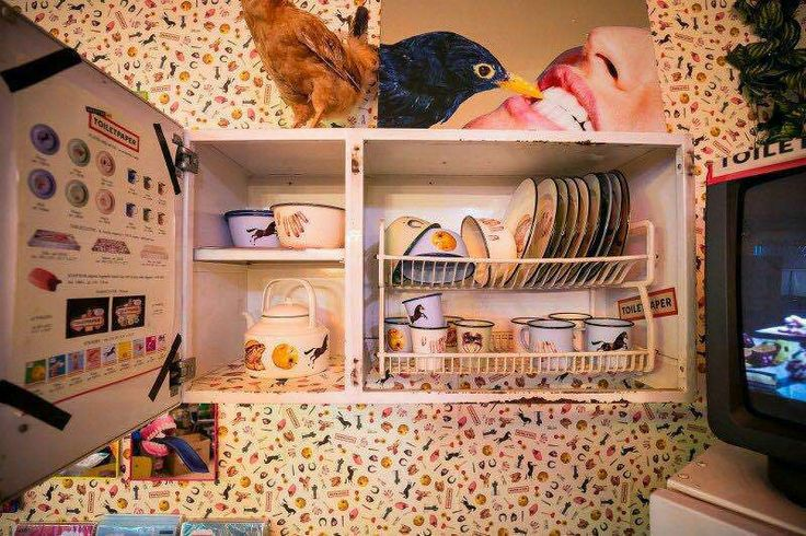 """Seletti Wears Toiletpaper. Mugs and plates look like they were just taken out from a fifties' kitchen pantry, the oilcloths from the drawers of a suburban inn""""."""