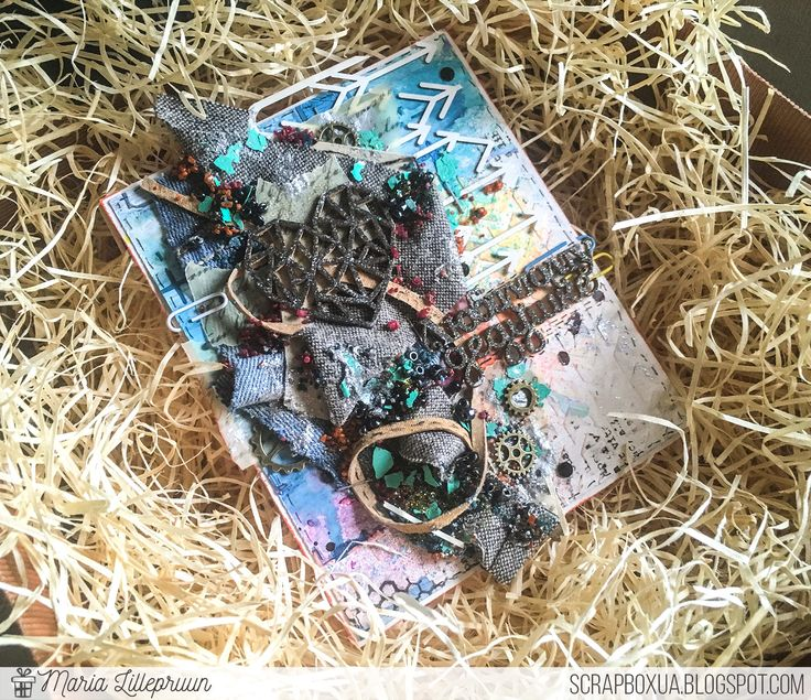 Mixed media grunge card by Maria Lillepruun