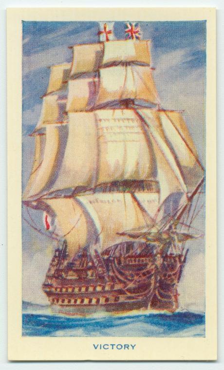 HMS Victory - cigarette card