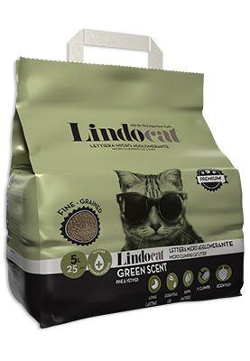 Lindocat Green Scent è una lettiera igienica agglomerante, composta al 100% da bentonite a granulometria fine.