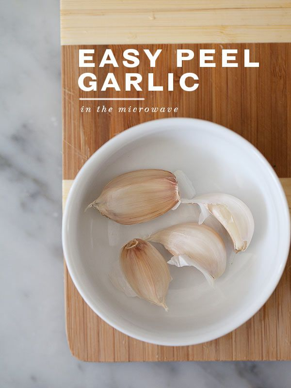How to Skin Garlic in the Microwave: Foodies Crushes, Help Tips Cooking, Garlic, Kosher Esque Recipes, Peel, Metals Bowls, Baking Cooking Freeze, Individual Clove, Baking Cooking Tidbit