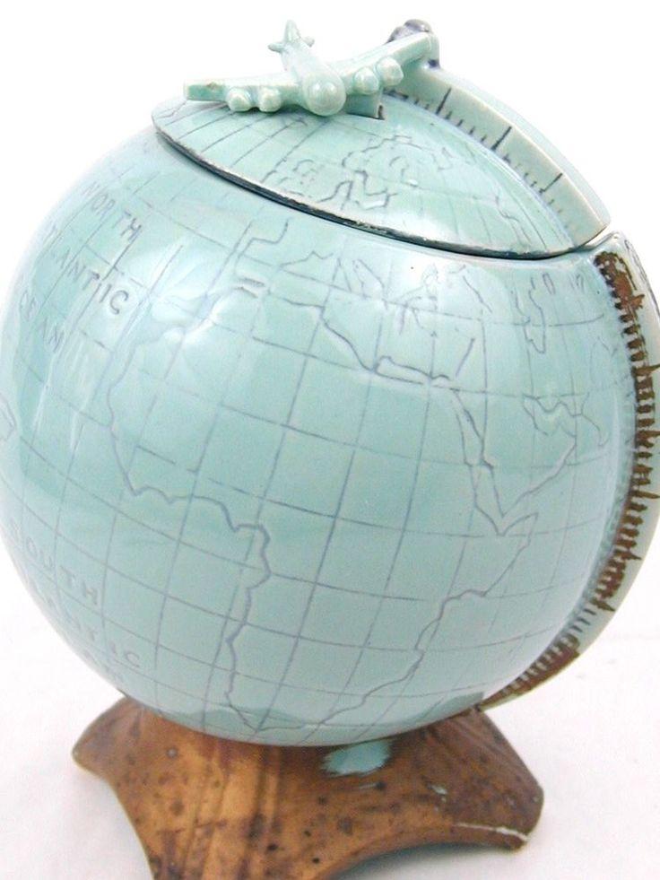 Vintage 1960 McCoy USA World Globe Cookie