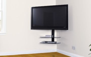 corner tv mount corner tv and tvs on pinterest. Black Bedroom Furniture Sets. Home Design Ideas