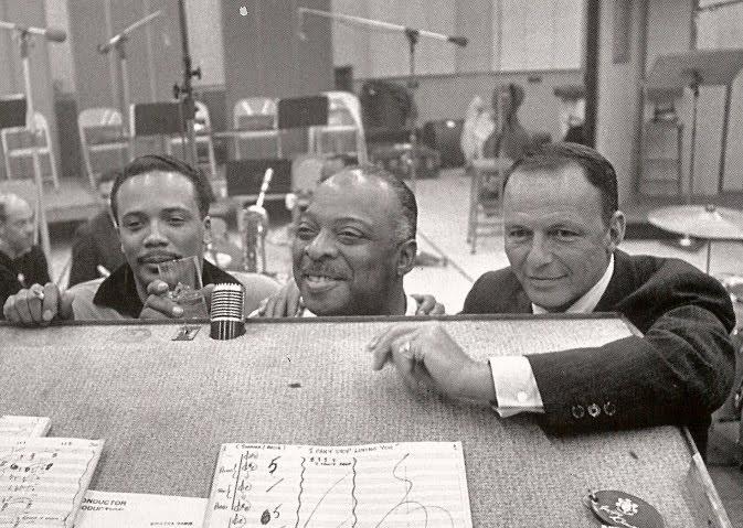 Quincy Jones, Count Basie, and Frank Sinatra circa 1965!