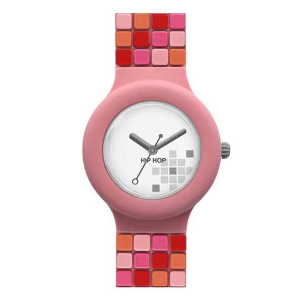 Per le donne che ricercano cura nei particolari e look speciali l'orologio dipinto a mano Shades Coral della collezione Hip Hop Mosaic è l'ideale!