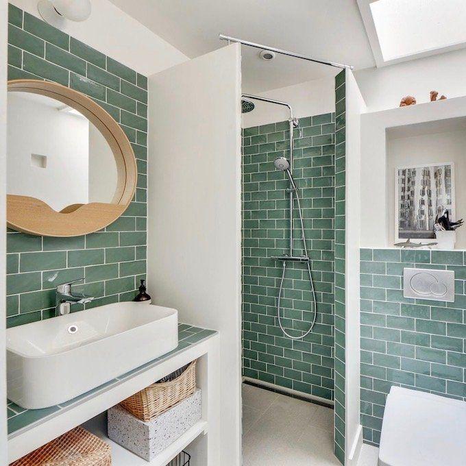 Visite déco : vivre en famille dans un 37m2 | Salle de bains ...