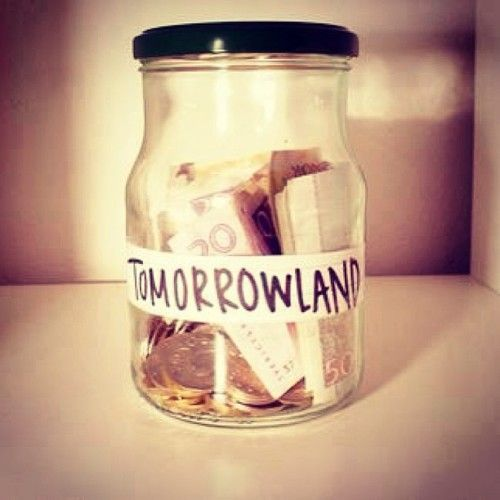 110 best tomorrowland images on pinterest music for Cute money saving jars