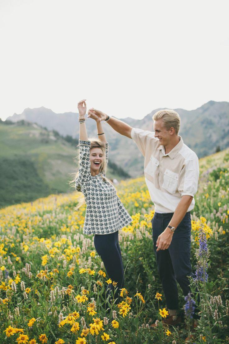Julie JP engagement shoot- Utah mountains