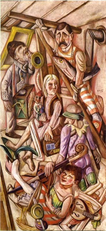 Max Beckmann (German 1884–1950) [Neue Sachlichkeit, German Expressionism] The Dream, 1921. St. Louis Art Museum, St. Louis, Missouri.