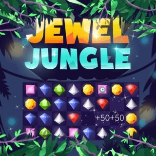 Jewel Jungle - http://www.funtime247.com/board-game/jewel-jungle/ - Match at least 3 jewels of the same color to remove them from the field in this beautiful Match 3 game classic. Play in level mode and complete 150 levels or race against the clock in time mode!