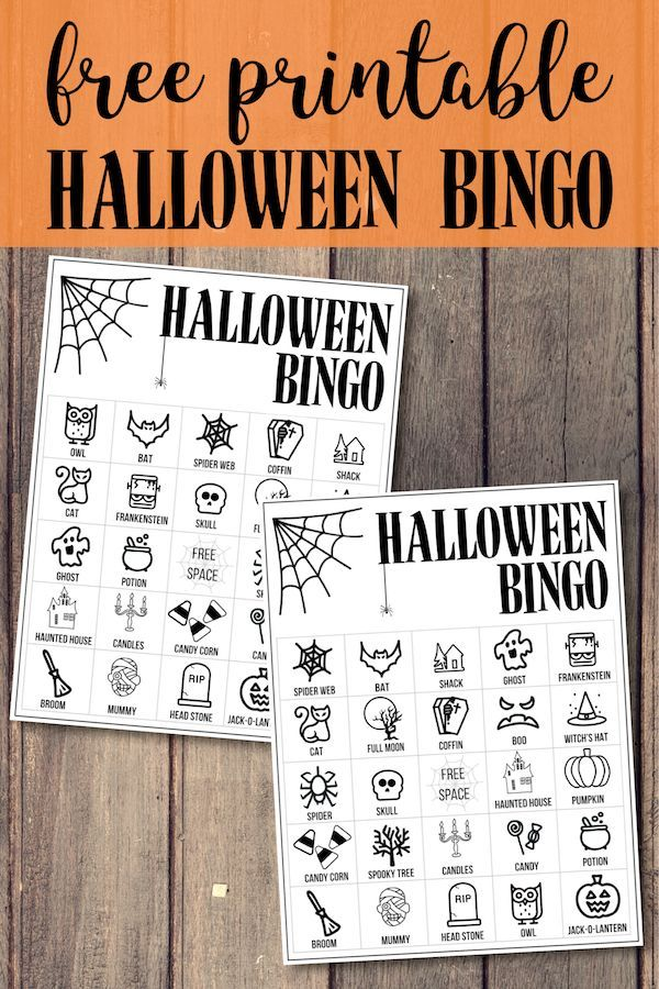 Halloween Bingo Printable Game Cards Template | DIY/Crafts ...