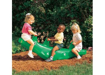 Little Tikes Alligator Teeter Totter   This Large, Fun Alligator Provides  Big Rocking Action For · Little TikesKid SpacesOutdoor PlayKid ...