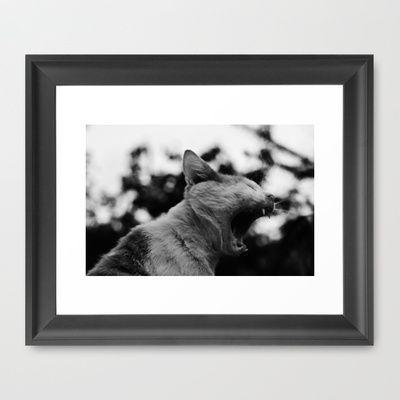 Rooaaarr Framed Art Print by Zeppelin - $57.00