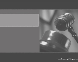 Attorney Powerpoint template background with gray colors for lawyers
