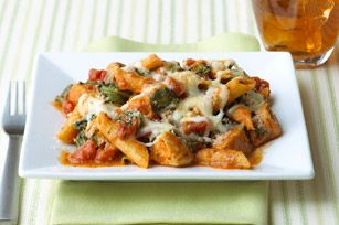 A delicious creamy tomato sauce flavours this baked pasta dish. Your family will think they're eating at an Italian restaurant.