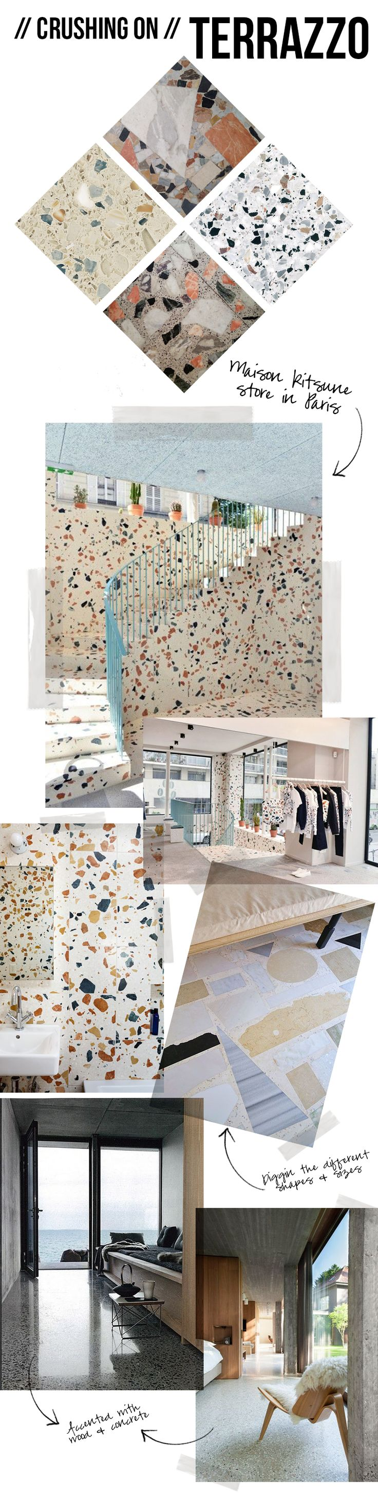 133 best terrazzo images on pinterest apartment design attic crushing on terrazzo terrazzo is very elaborate in design can be used for floors dailygadgetfo Images