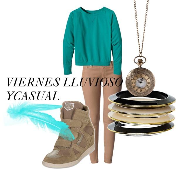 """""""VIERNES LLUVIOSO Y CASUAL!"""" by gabriela-garcia-1 on Polyvore"""