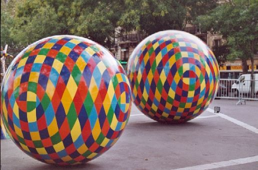 Spheres. Sculpture artworks by the artist Vassiliki (b.1960).