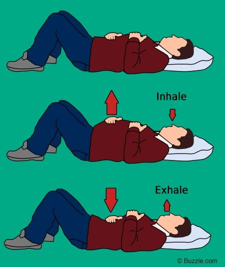 Diaphragm Breathing Exercises | Diaphragmatic breathing while lying down