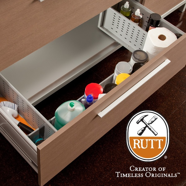 easy storage cleaning supplies and cleaning on pinterest: organizer drawer showplace kitchen convenience accessories