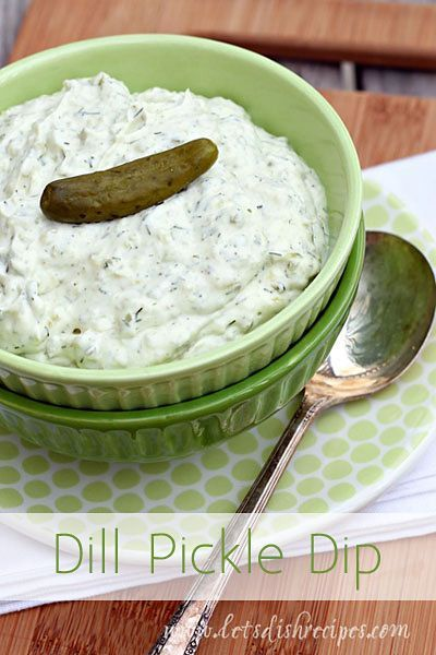Dill Pickle Dip | This appetizer is always a hit. Everyone asks for the recipe! #recipe