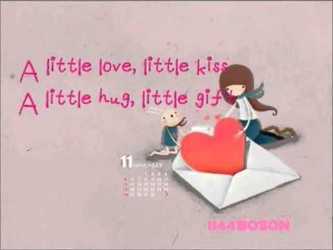 A Little Love - Fiona Fung [Lyrics]  You make me smile you make me cry ~~   Esta no video de Yesung