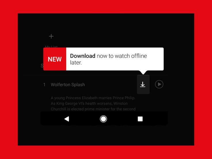 Genom appen på din enhet med iOS eller Android kan du ladda ner utvalda TV-serier och filmer för att titta utan internetuppkoppling. Se guiden.