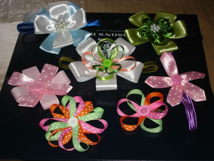 hair band ribbon flowers