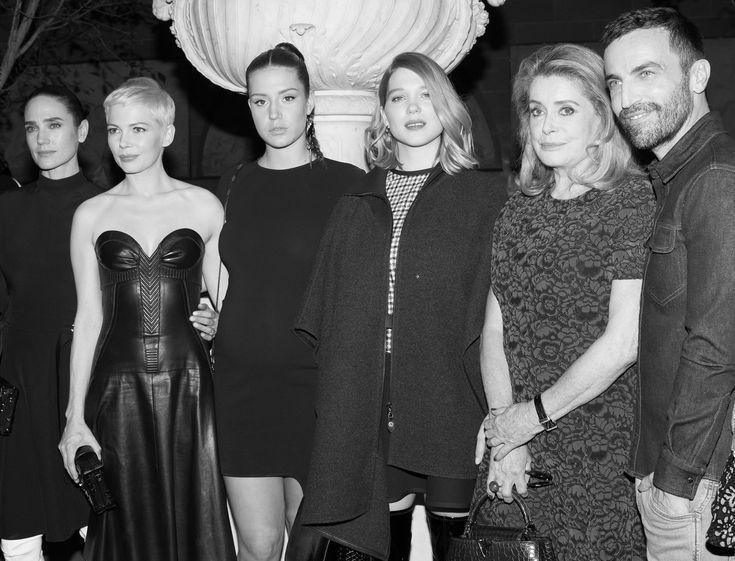 Jennifer Connelly, Michelle Williams, Adèle Exarchopoulos, Léa Seydoux, Catherine Deneuve et Nicolas Ghesquière