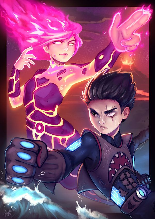 Sharkboy and Lavagirl by Lushies-Art.deviantart.com on @DeviantArt - Art in 2019 - Sharkboy ...