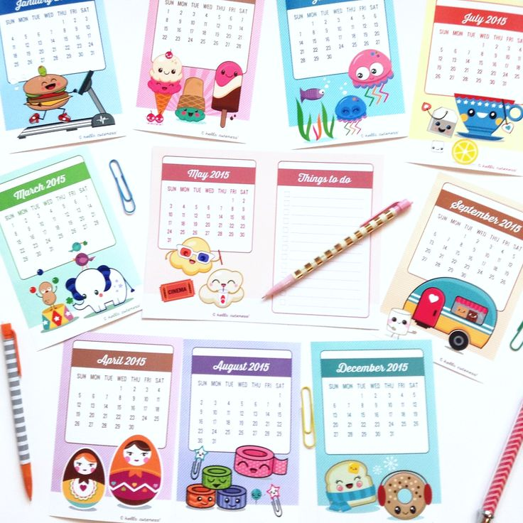 The 93 best images about Calendrier 2015 printable on Pinterest